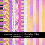 Birthday Bliss Add On Paper Pack-$3.99 (Jumpstart Designs)