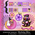 Birthday Bliss Add On Embellishment Pack-$3.99 (Jumpstart Designs)