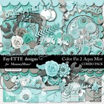Color Fix 2 Pretty in Aqua Mist Combo Pack-$6.99 (Ettes and Company by Fayette)