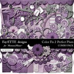 Color Fix 2 Perfect Plum Combo Pack-$6.99 (Ettes and Company by Fayette)