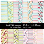 Color Fix 2 Duos Paper Pack-$3.99 (Ettes and Company by Fayette)