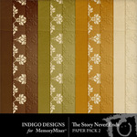 The Story Never Ends Embossed Paper Pack-$3.99 (Indigo Designs)