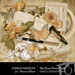 The Story Never Ends Embellishment Pack-$1.80 (Indigo Designs)