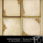 The Story Never Ends Stacked Paper Pack-$2.99 (Indigo Designs)