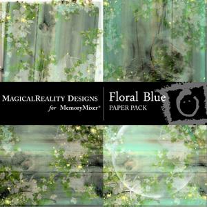 Floral blue pp medium