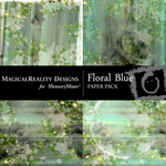 Floral Blue Paper Pack-$2.99 (MagicalReality Designs)