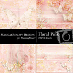 Floral Pink Paper Pack-$2.99 (MagicalReality Designs)