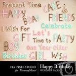 It's Your Birthday WordArt Pack-$1.99 (Fly Pixel Studio)