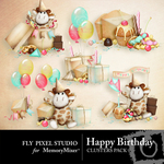 It's Your Birthday Cluster Pack-$1.99 (Fly Pixel Studio)