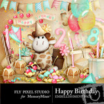 It's Your Birthday Embellishment Pack-$2.99 (Fly Pixel Studio)