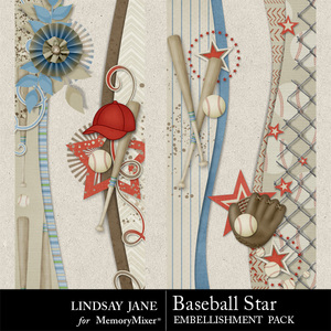 Baseball star borders medium