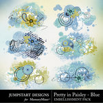 Pretty in Paisley Blue Scatters Pack-$1.79 (Jumpstart Designs)