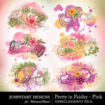 Pretty in Paisley Pink Scatters Pack-$2.99 (Jumpstart Designs)