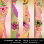 Pretty in Paisley Pink Border Pack-$2.99 (Jumpstart Designs)