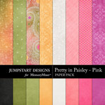 Pretty in Paisley Pink Paper Pack-$1.79 (Jumpstart Designs)