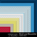 Bold and Beautiful Embossed Paper Pack-$2.99 (Lindsay Jane)