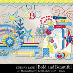 Bold and Beautiful Embellishment Pack-$3.99 (Lindsay Jane)