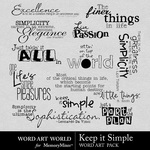 Keep It Simple WordArt Pack-$2.49 (Word Art World)