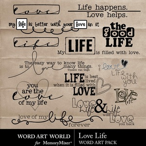 Love life wordart medium
