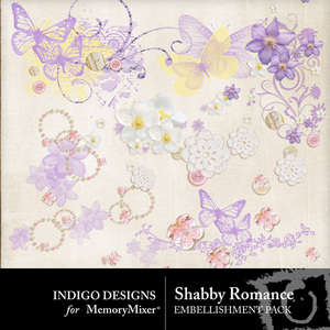 Shabby romance accents medium
