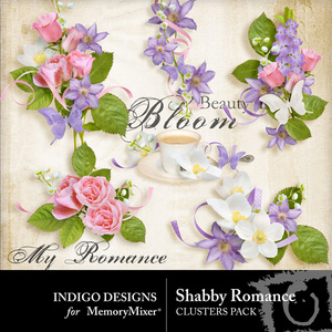 Shabby romance clusters medium