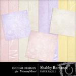 Shabby romance embossed pp small