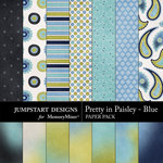 Pretty in Paisley Blue Add On Paper Pack-$3.99 (Jumpstart Designs)