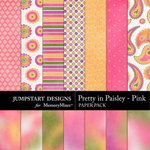 Pretty in Paisley Pink Add On Paper Pack-$3.99 (Jumpstart Designs)