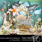 Sea Memories MR Embellishment Pack-$1.50 (MagicalReality Designs)