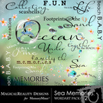 Sea Memories MR WordArt Pack 2-$2.49 (MagicalReality Designs)