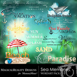 Sea Memories MR WordArt Pack 1-$2.49 (MagicalReality Designs)
