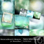 Sea Memories MR Paper Pack-$3.99 (MagicalReality Designs)
