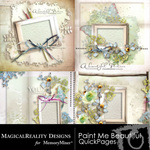 Paint Me Beautiful QUICK PAGE QuickMix-$1.75 (MagicalReality Designs)