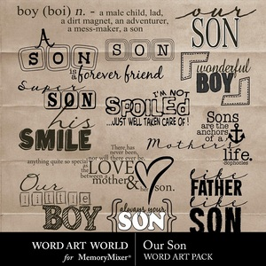Our son wordart medium