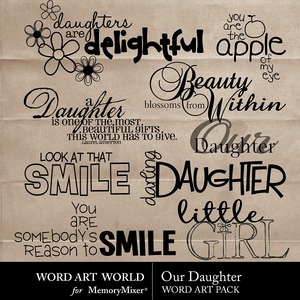Our daughter wordart medium