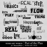 Part of the plan wordart small