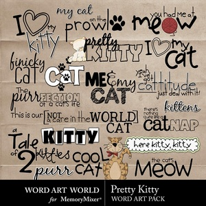 Pretty kitty wordart medium