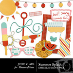 Summer Splash Embellishment Pack-$1.50 (Julie Klaus)