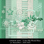 Color My World Mint Combo Pack-$3.99 (Lindsay Jane)