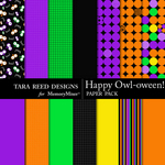 Happy Owl Oween Paper Pack-$3.49 (Tara Reed Designs)