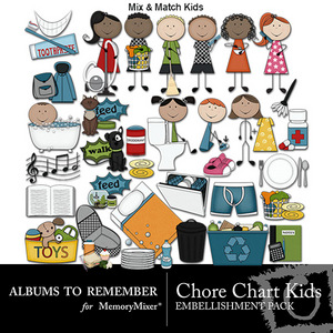 Chore chart kids emb medium