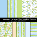 Baby Boys First Christmas Paper Pack-$2.99 (Tara Reed Designs)