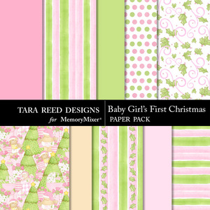 Baby girls first christmas pp medium