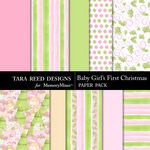 Baby Girls First Christmas Paper Pack-$2.99 (Tara Reed Designs)