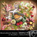 Simple Pleasures Embellishment Pack-$2.99 (MagicalReality Designs)