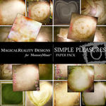 Simple Pleasures Paper Pack-$3.99 (MagicalReality Designs)