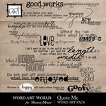 Quote Me WordArt Pack-$2.49 (Word Art World)