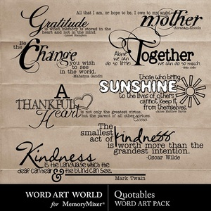 Quotables wordart medium