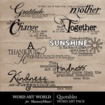 Quotables WordArt Pack-$2.49 (Word Art World)