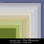 Our Memories Embossed Paper Pack-$2.99 (Lindsay Jane)